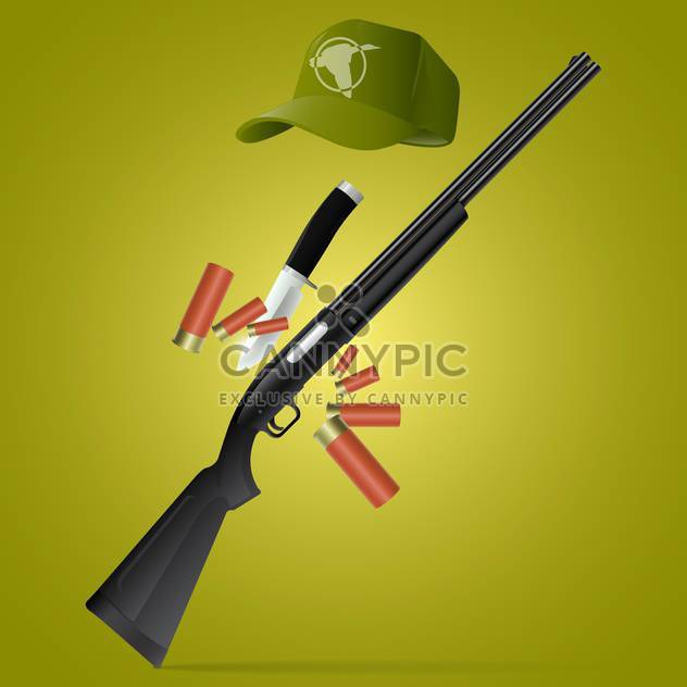 vector soldier rifle with bayonet - Free vector #133293