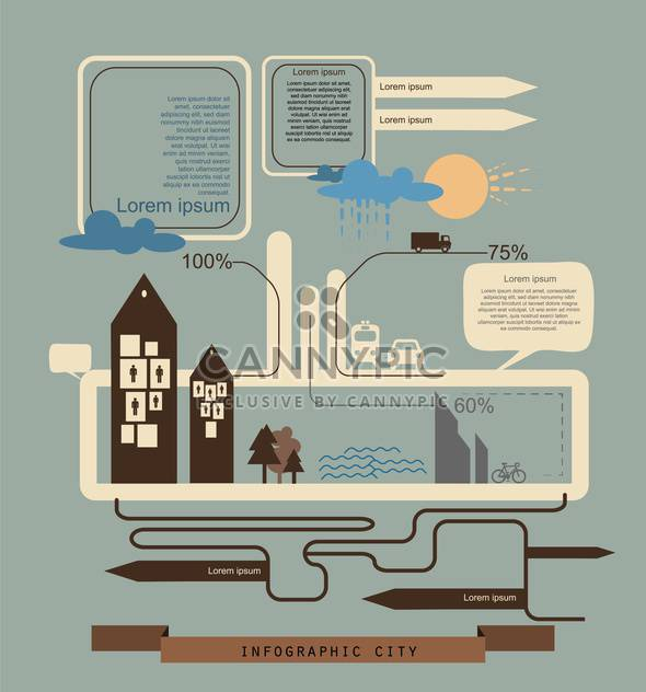 business retro infographics set - Free vector #133333