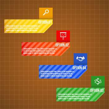 set of business process steps - vector gratuit #133353
