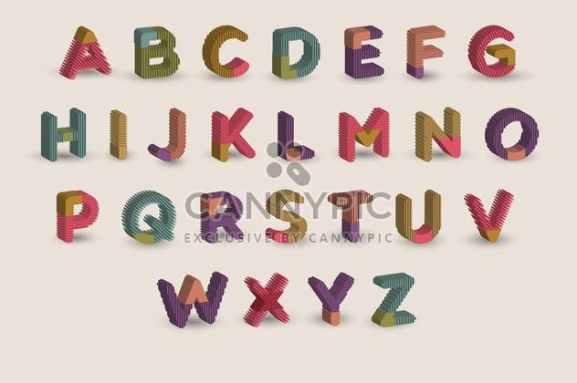 cartoon colorful alphabet letters - Free vector #133403