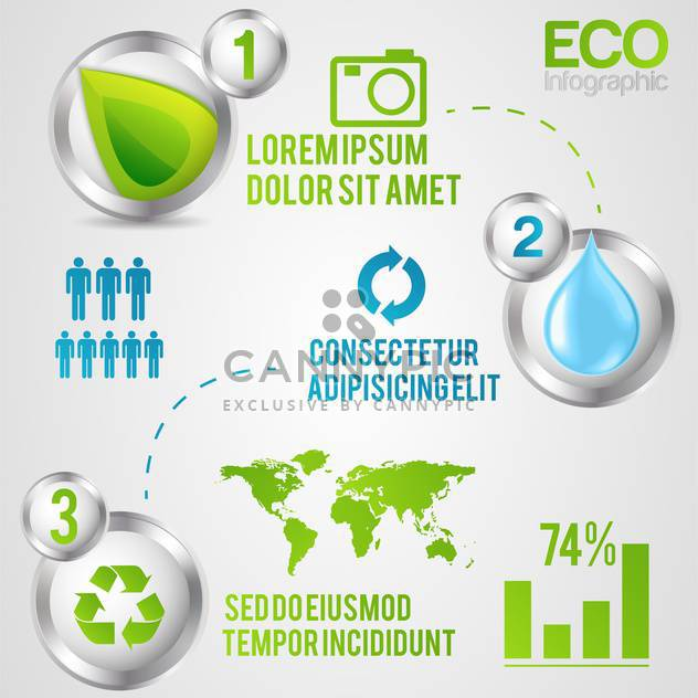 ecology infographics with elements and icons - Free vector #133413