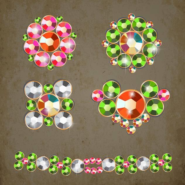 abstract diamonds vector illustration - vector gratuit(e) #133423
