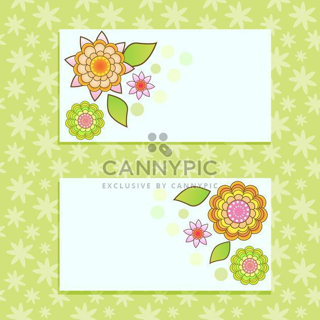 vector floral cards background - Free vector #133433