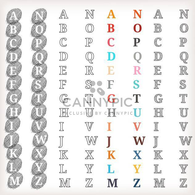 vector education alphabet letters set - Free vector #133473