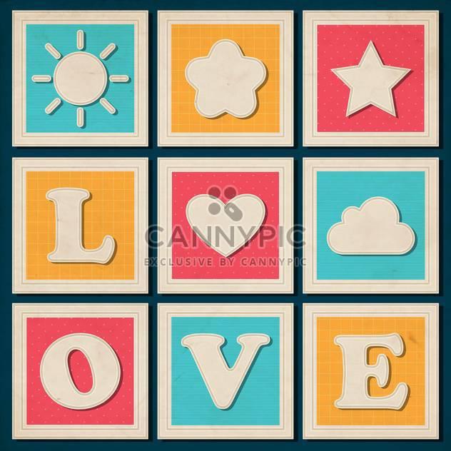 Satz von alte Liebe Inschrift Hintergrund - Free vector #133563