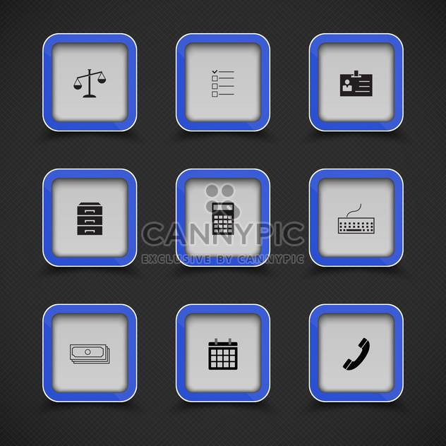 set of vector web icons background - Free vector #133573