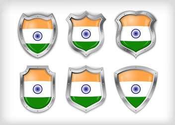 vector india shield set background - бесплатный vector #133593