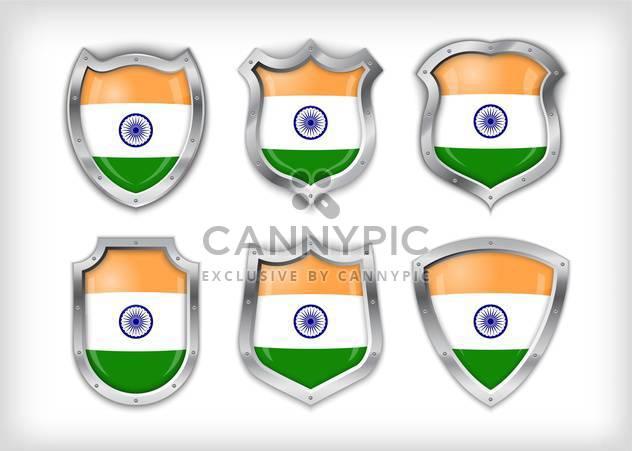 Vektor-Indien-Schild-Set-Hintergrund - Free vector #133593