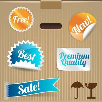set of vector shopping labels and stickers - Free vector #133603