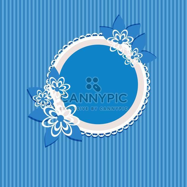 floral vector frame background - Free vector #133623