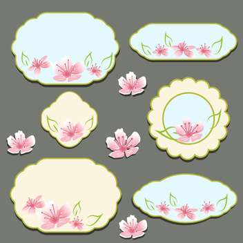set of vector floral frames - Free vector #133633