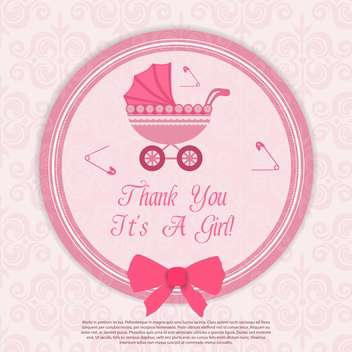 birthday baby girl card - vector gratuit #133663