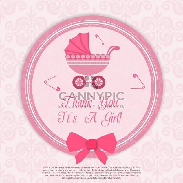birthday baby girl card - Free vector #133663