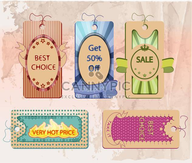 vector set of labels for shopping sale - Free vector #133683