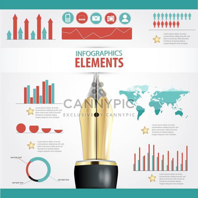 Satzelemente für Geschäft Infografiken - Kostenloses vector #133703