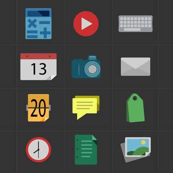 business and office icons set - Free vector #133733