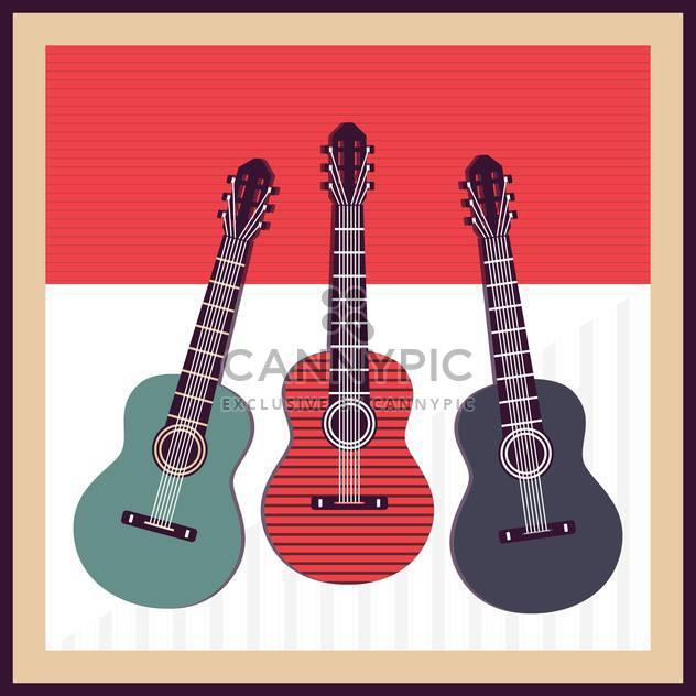 Vektor-Hintergrund mit Akustik-Gitarren - Kostenloses vector #133763