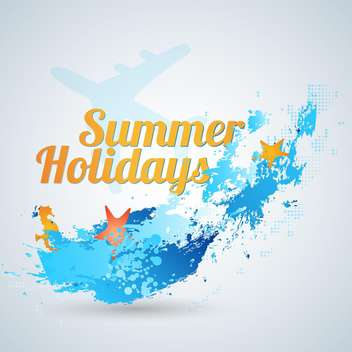 summer holidays vector background - vector #133773 gratis