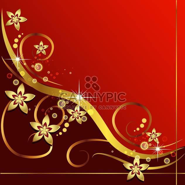 vintage red floral background - Free vector #133783
