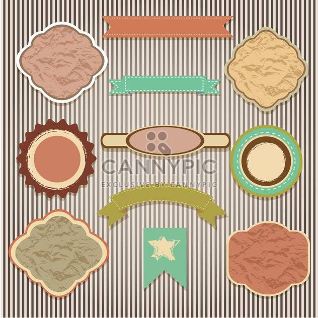 set of labels on striped background - Free vector #133803