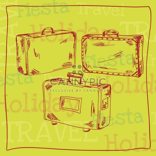 Jahrgang Reise Koffer Hintergrund - Free vector #133873