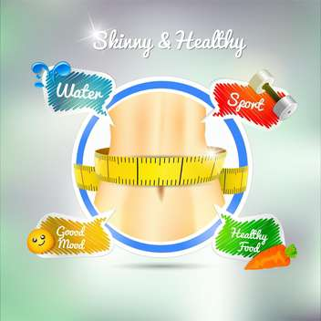 healthy sport concept background - Free vector #133923
