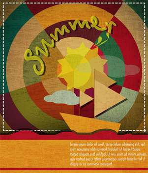 summer holiday vacation background - Free vector #134013