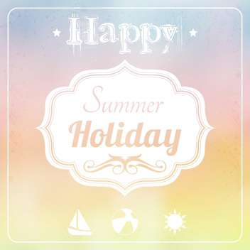 hello summer holiday background - vector gratuit #134023