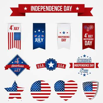vector independence day badges - Kostenloses vector #134033