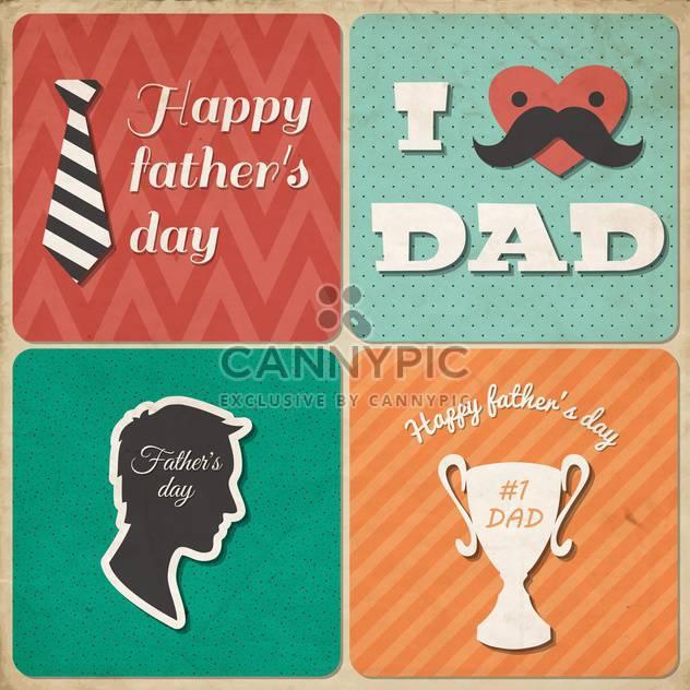 Retro-glückliche Vater-Tageskarte - Free vector #134053