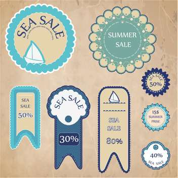 shopping sale signs background - Free vector #134063