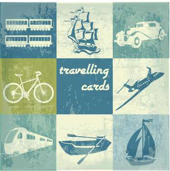 vintage traveling cards background - vector gratuit(e) #134073