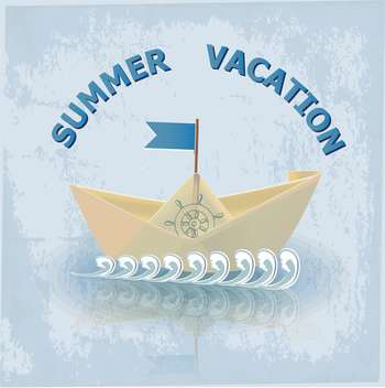 summer vacation travel illustration - vector gratuit #134083