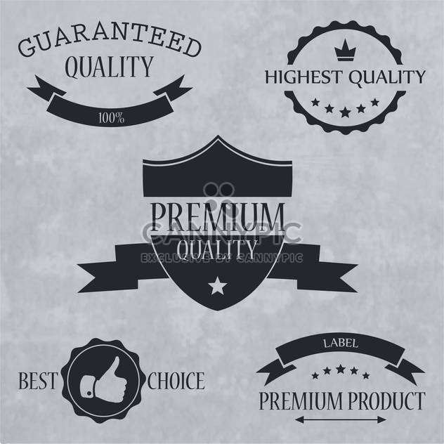 quality and guaranteed signs, emblems and labels - Free vector #134133
