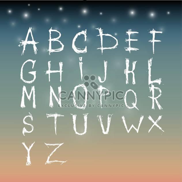 Alphabet-künstlerische Schriftsatz - Kostenloses vector #134233