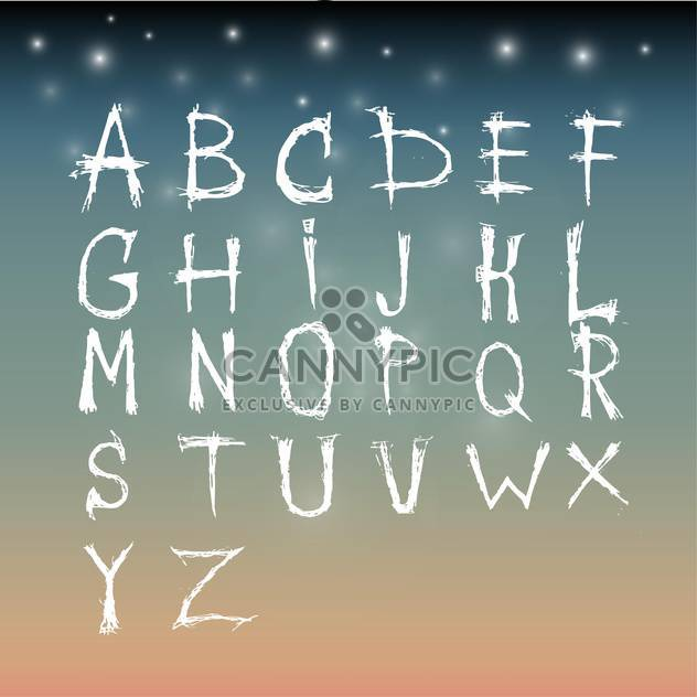 artistic font alphabet set - Free vector #134233