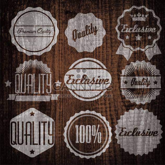 quality and guaranteed emblems and labels - Free vector #134303