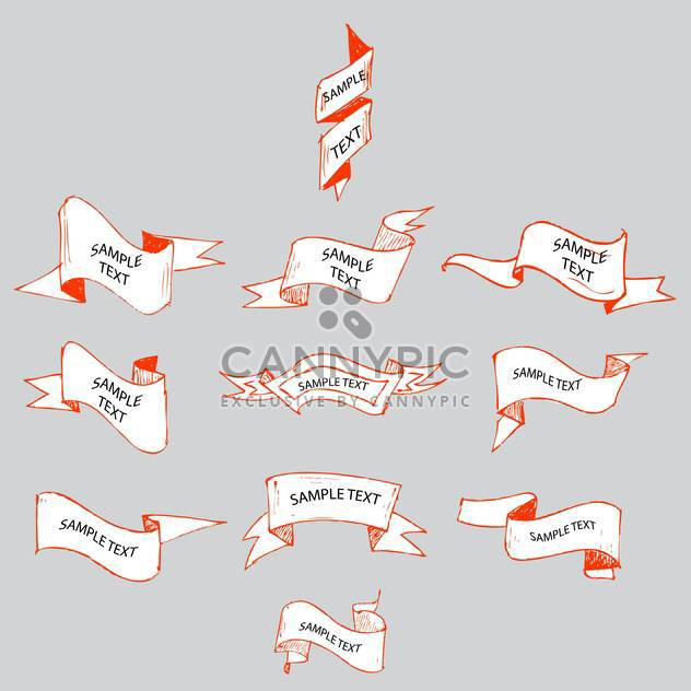 abstract ribbons sketch set - Free vector #134333
