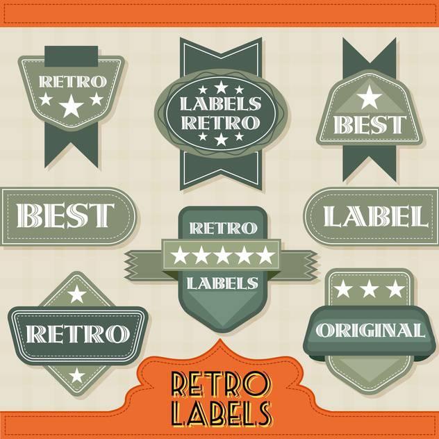 retro labels icons set - vector gratuit(e) #134353