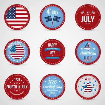 usa independence day labels set - бесплатный vector #134373