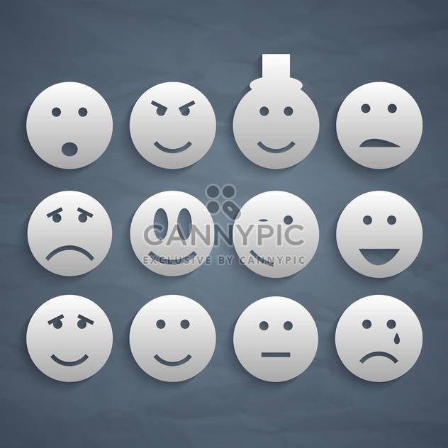 Web lächelt Vielzahl festlegen Hintergrund - Free vector #134433