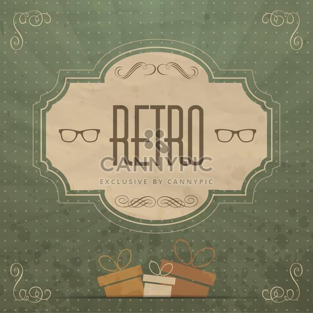 Hintergrund der Bezeichnung Retro-Kunst - Free vector #134463