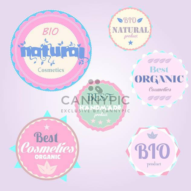 organic cosmetics vintage labels - Free vector #134483