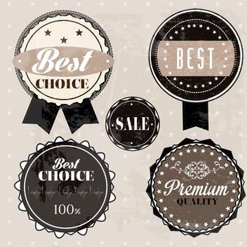 sale high quality labels and signs - vector gratuit #134493