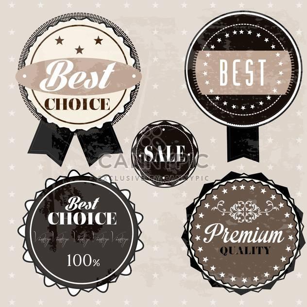 Verkauf hochwertiger Etiketten und Schilder - Kostenloses vector #134493