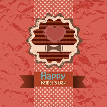 happy fathers day vintage card - vector gratuit #134653
