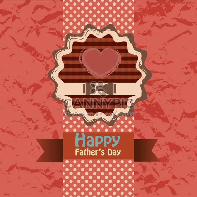 glückliche Väter Tag Grußkarte - Kostenloses vector #134653