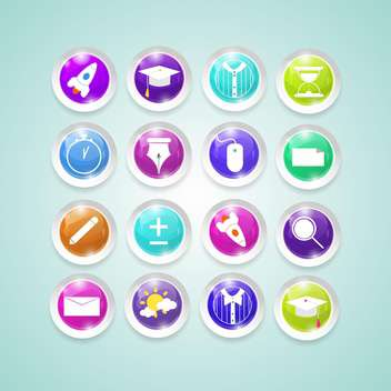 web button colorful set - vector #134663 gratis