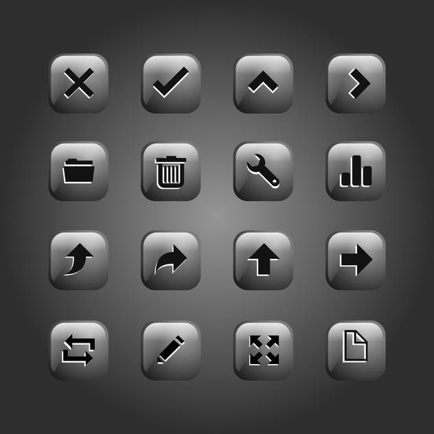set of web buttons collection - vector #134693 gratis