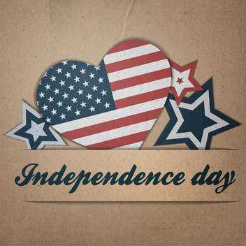 vintage vector independence day background - Free vector #134743